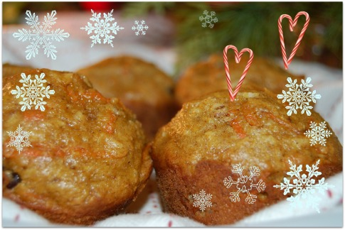 Cranberry Orange Carrot Cake Muffins | This Sweet Wife